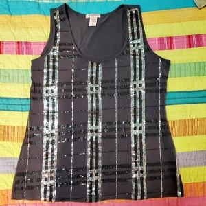 Six Degrees of Separation Sequin Tank Top